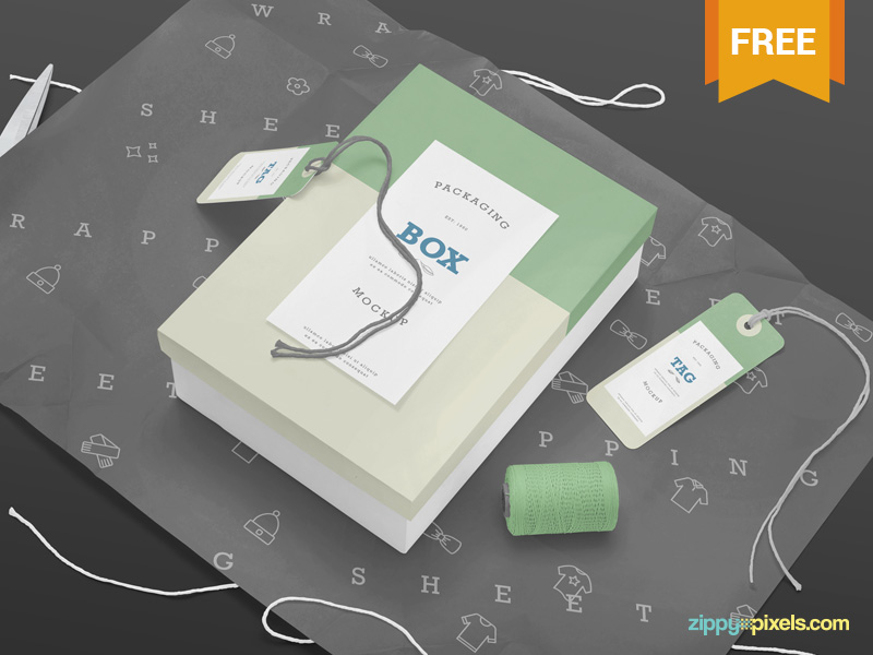 Free Rectangular Square Box Mockup