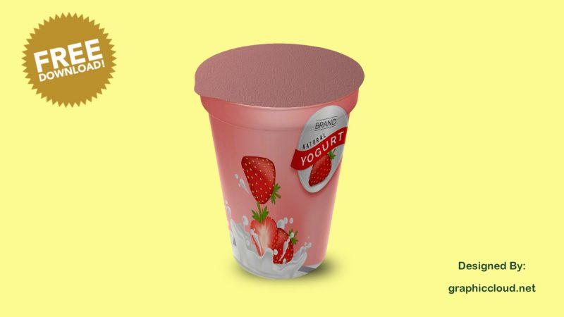 Free Yogurt Mockup PSD