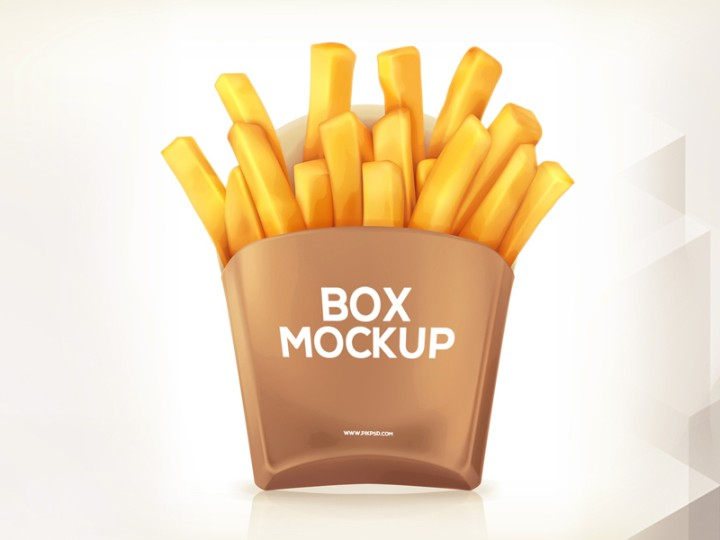 French Fries Box Mockup PSD Free