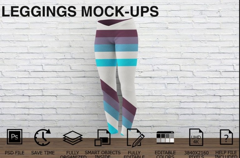 Fully Editable Leggings Mockup PSD
