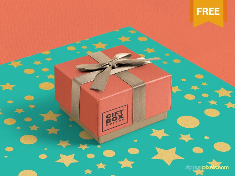 Gift Packaging Box Mockup