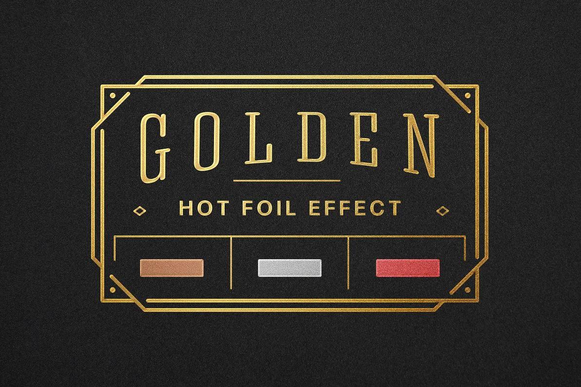 Golden Hot Foil Logo Mockup