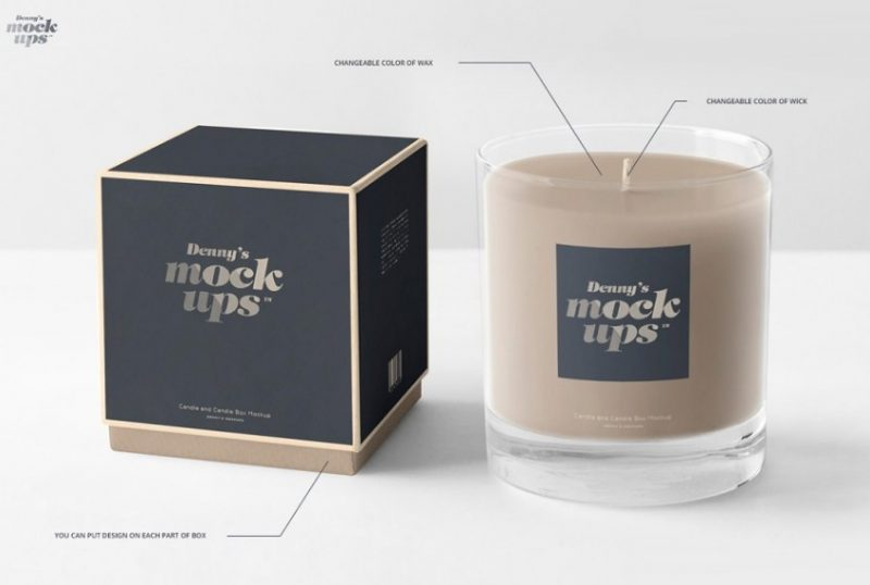 High Quality Candle Mockup