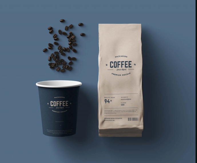 High Quality Coffee Package Mockup