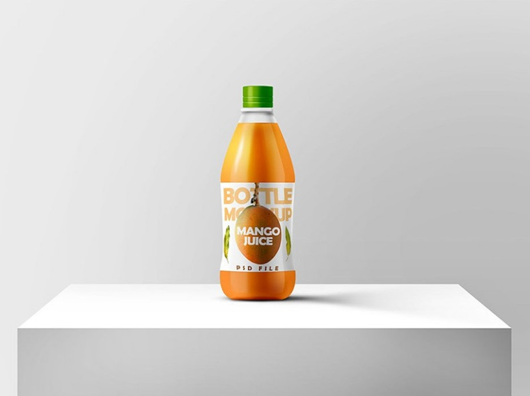 High Quality Juice Bottle Mockup