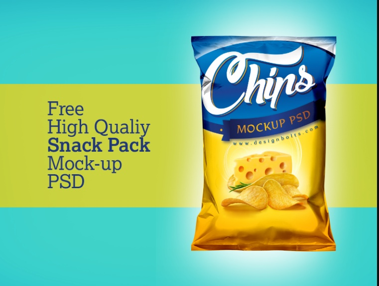High Quality Snack Mockup Free