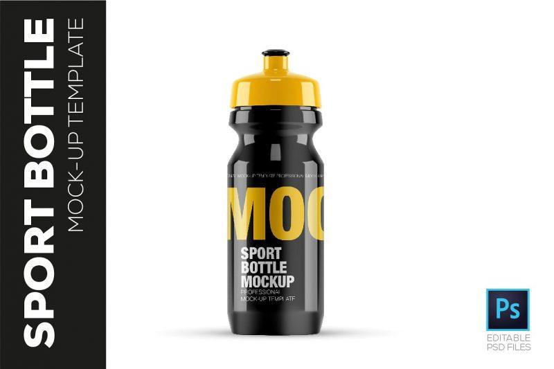 High Quality Sports Bottle Mockup