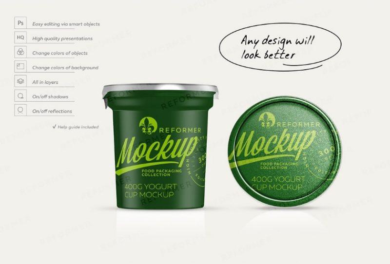 High Quality Yogurt Mockup