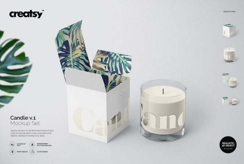 High Resolution Candle Mockup