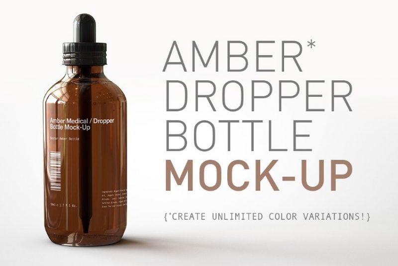 High Resolution Dropper Bottle Mockup
