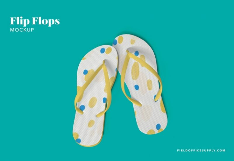 High Resolution Flip Flops Mockup