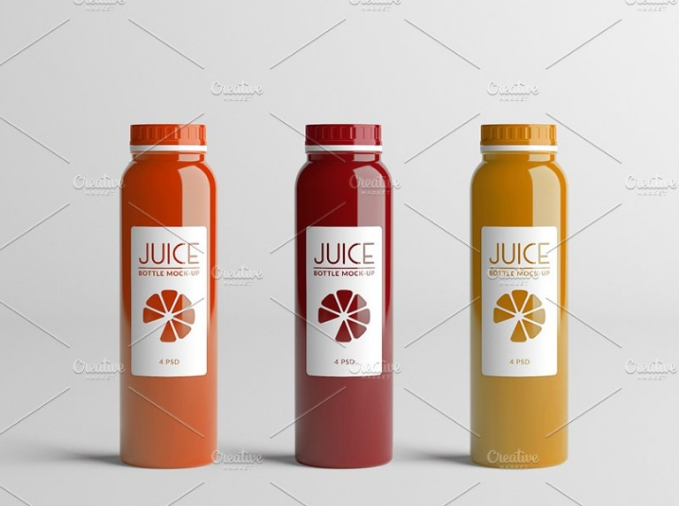 High Resolution Juice Bottle Mockup