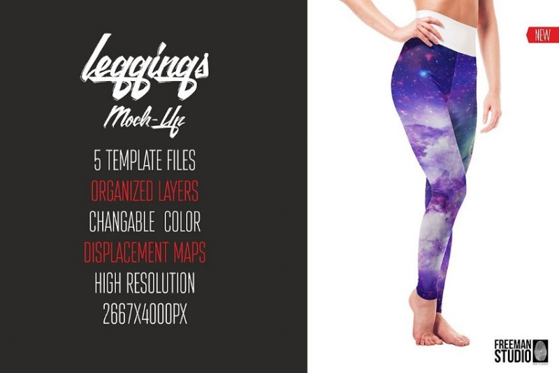 High Resolution Leggings Mockup PSD