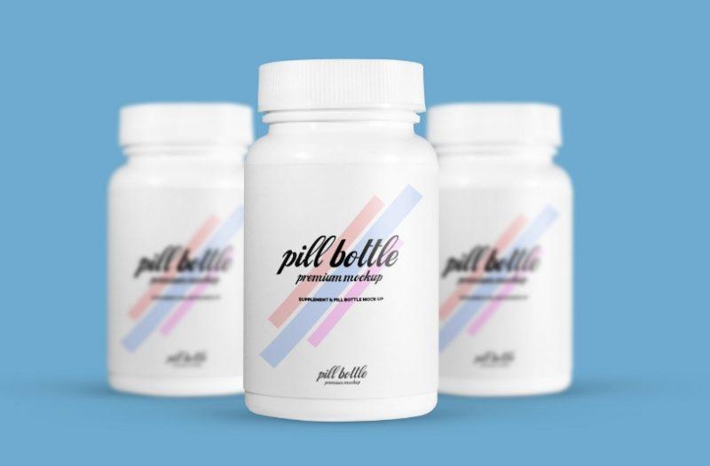High Resolution Pill Bottle Mockup