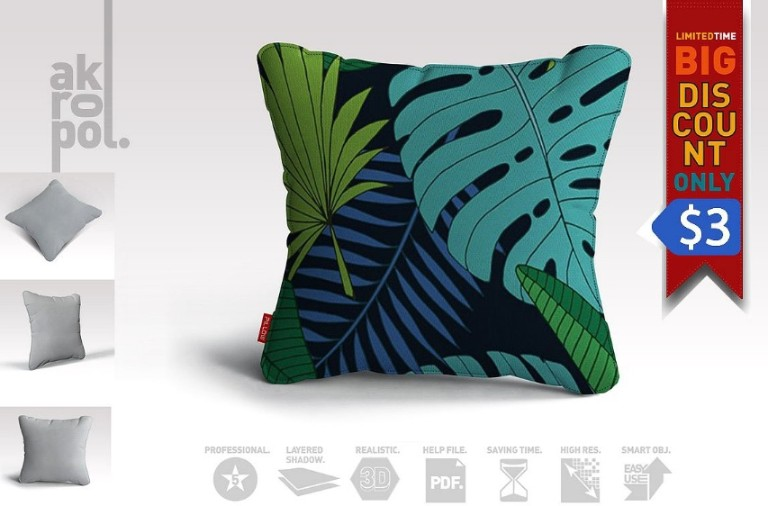 High Resolution Pillow Mockup PSD