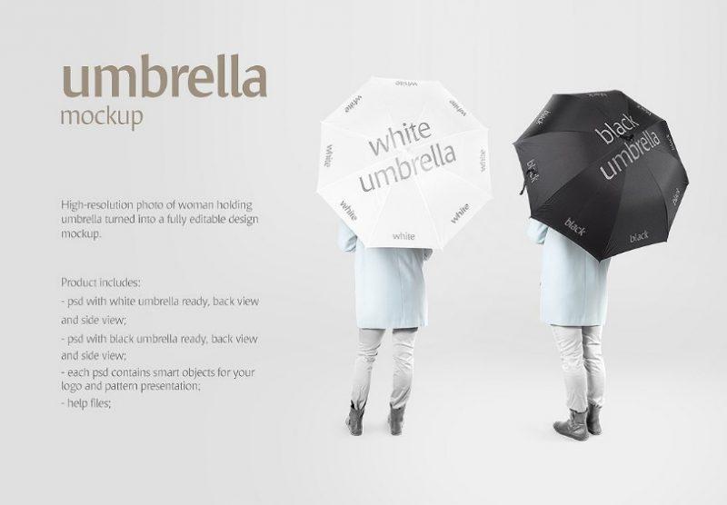 High Resolution Umbrella Mockup PSD