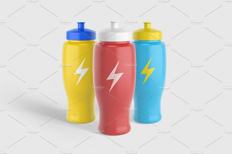High Resolution Water Bottle Mockup