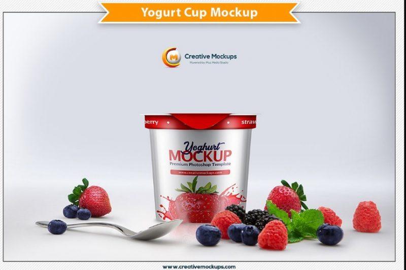 High Resolution Yogurt Mockup