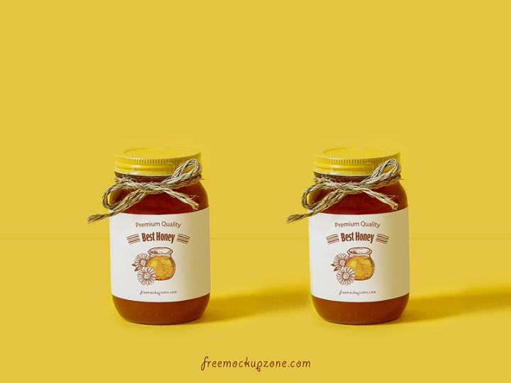 Honey Bottle Label Mockup