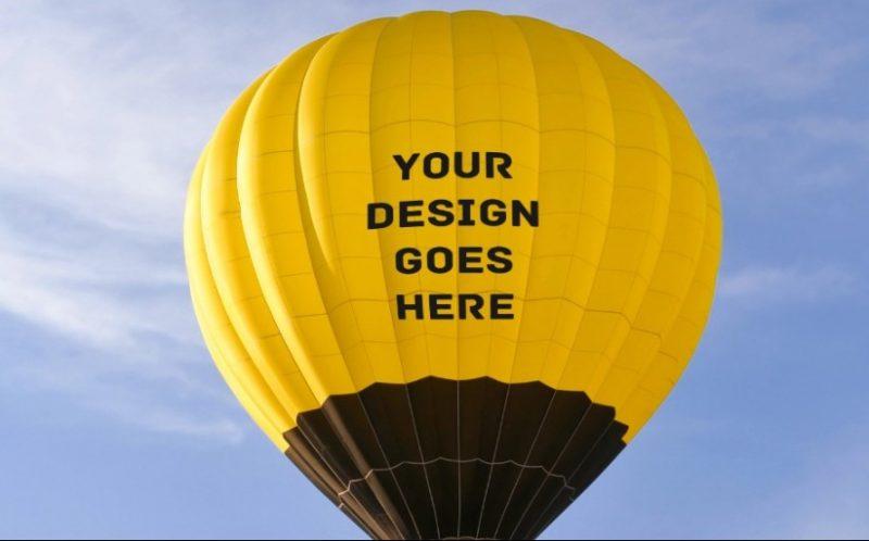 Hot Air Balloon Mockup PSD