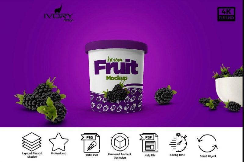 Ice Cream Cup Mockup Design
