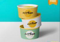 Ice Cream Cup Mockup PSD