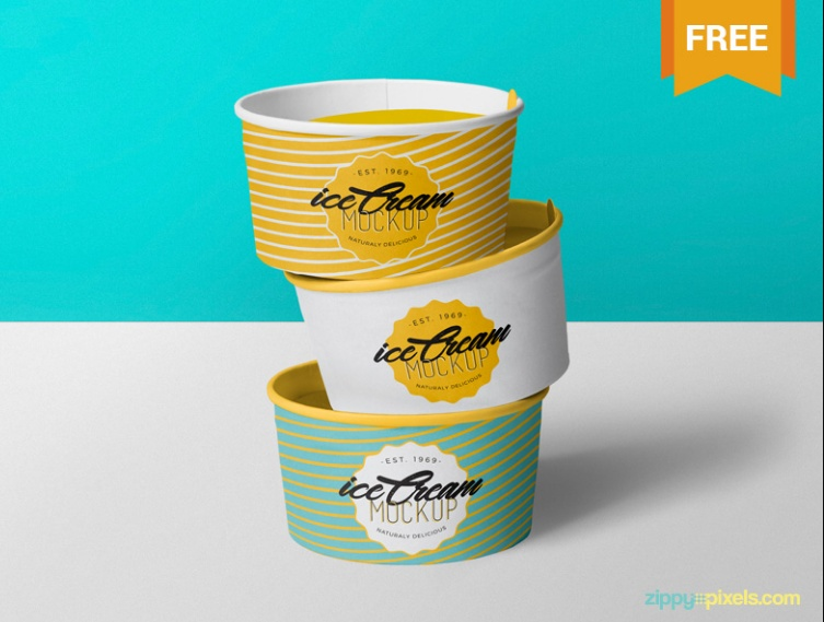 15+ Free Ice Cream Mockup PSD for Branding