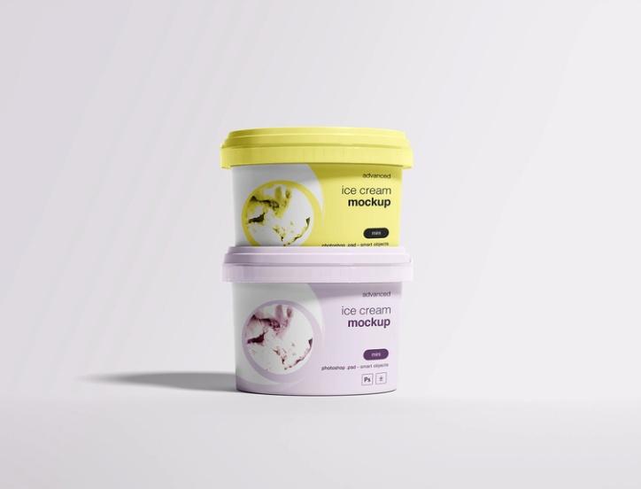 Ice Cream Mockup PSD Free