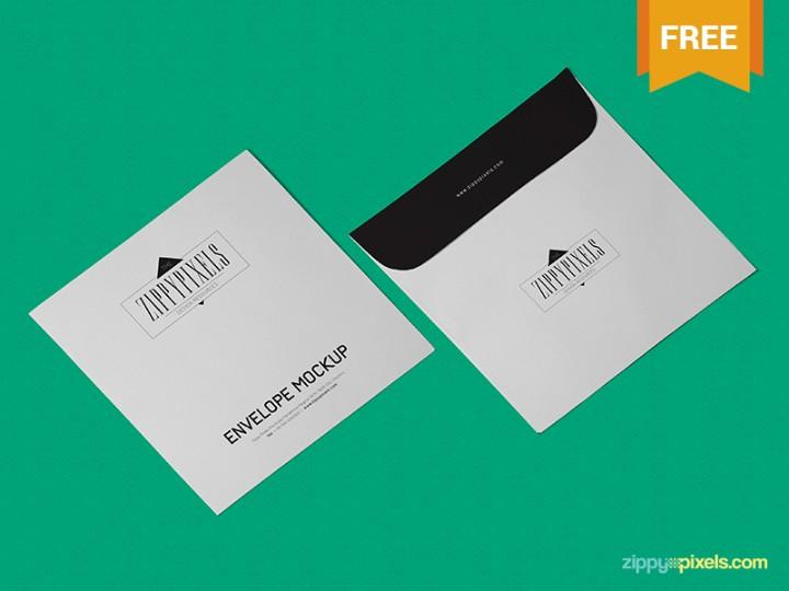 Isometric Envelope Mockup PSD Free