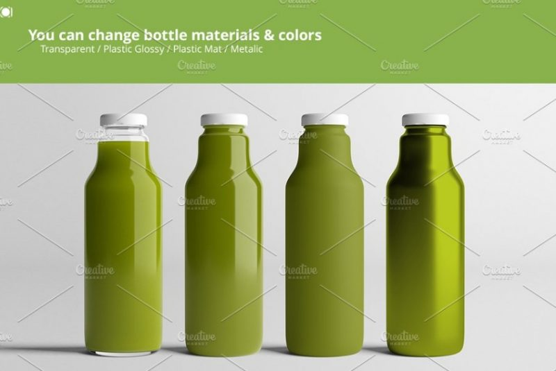 Juice Bottle Branding Mockup