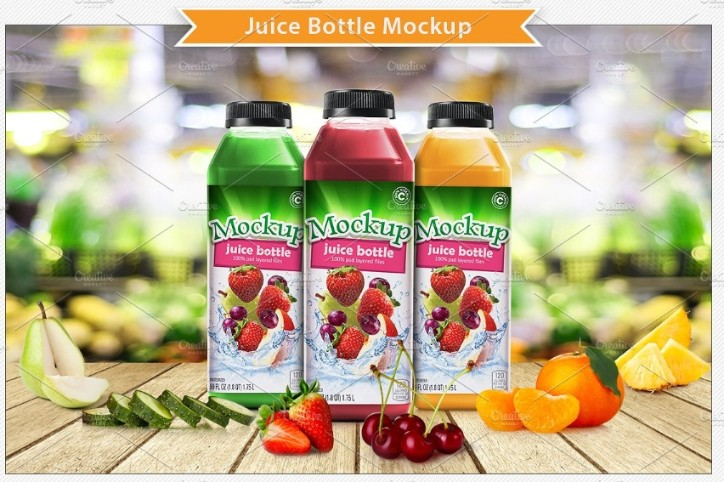 Juice Bottle Label Branding