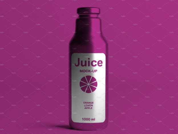 Juice Bottle Label Mockup