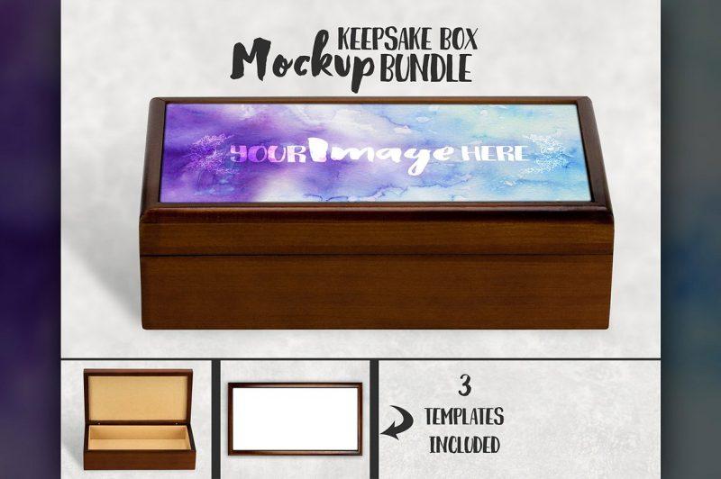 Keepsake Box Mockup PSD
