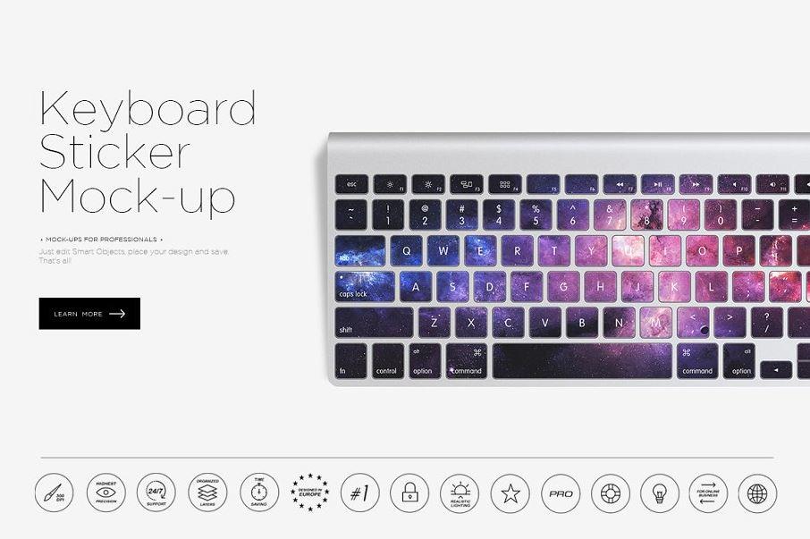 Keyboard-sticker-mock-up