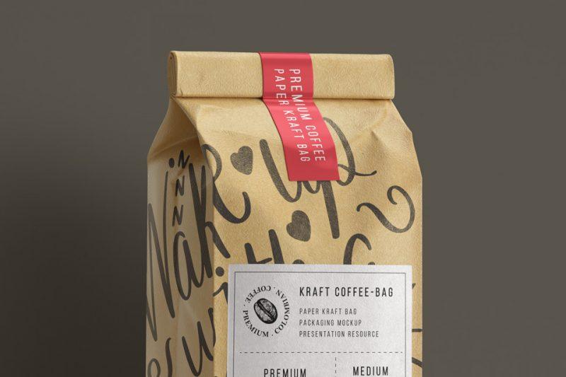 Kraft Paper Coffee Bag Mockup