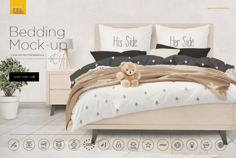 Layered Bedding Mockup PSD