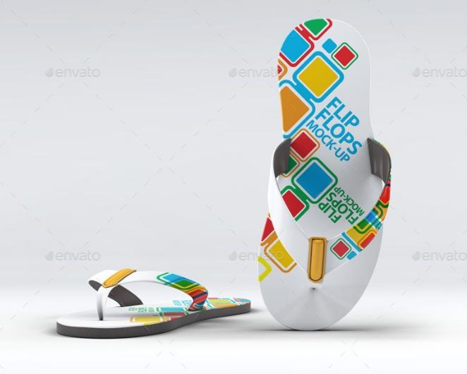 Layered Flip Flop Mockup PSD