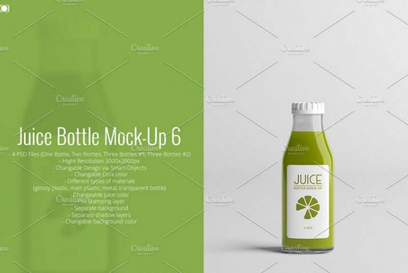 21+ Juice Bottle Mockup PSD Free and Premium