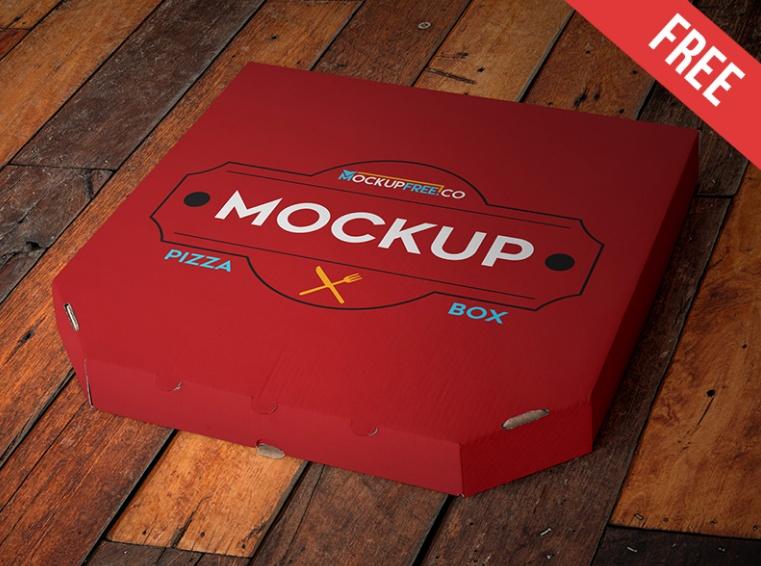 Layered Pizza Box Mockup PSD