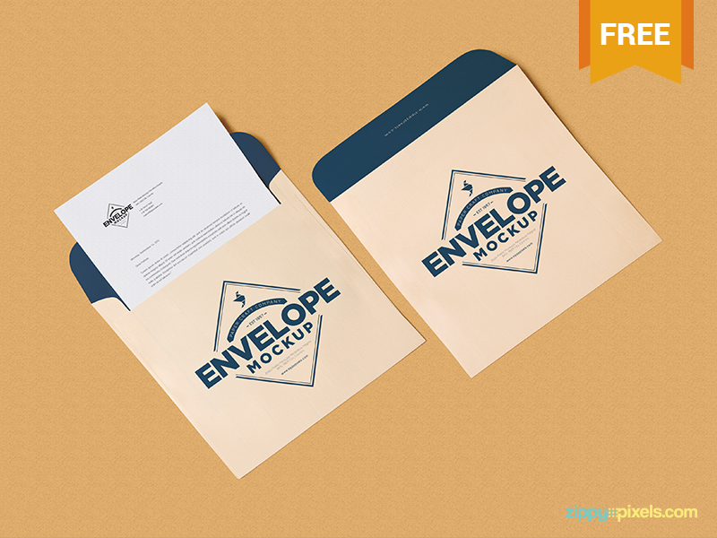 Letterhead and Envelope Mockup