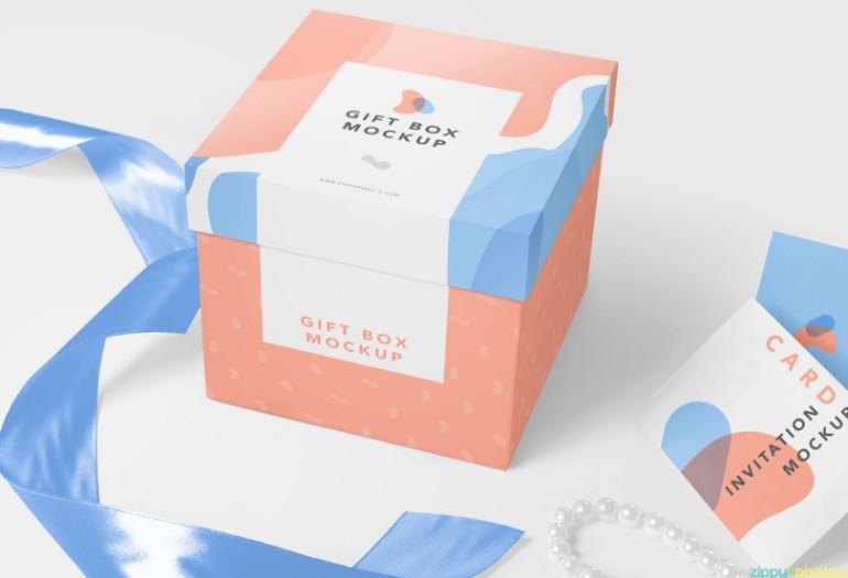 Luxury Gift Box Mockup