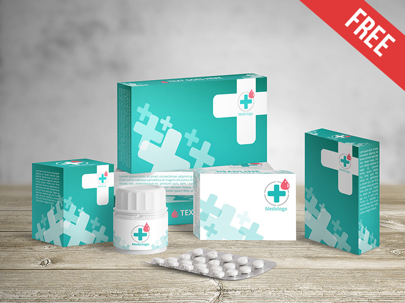 Medical Packaging Mockup PSD