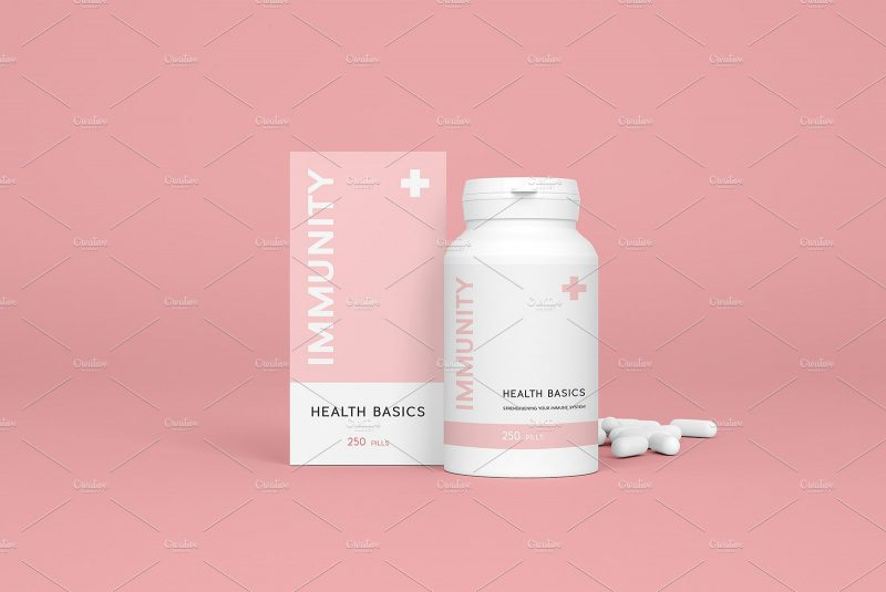 Medicine Box Branding Mockup