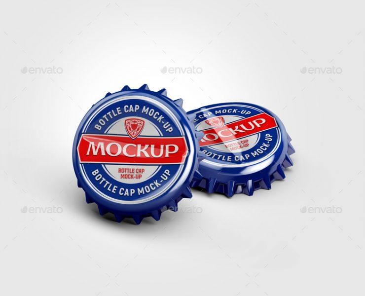 10+ Bottle Cap Mockup PSD Free Download