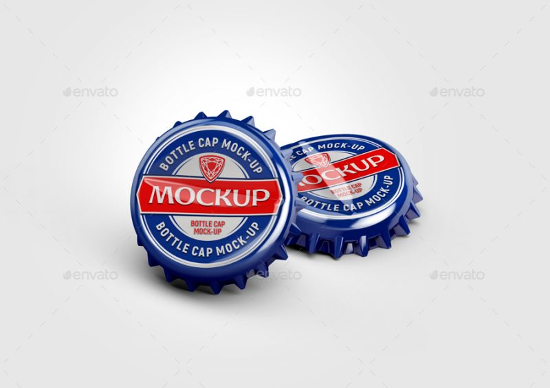 Metal Bottle Cap Mockup