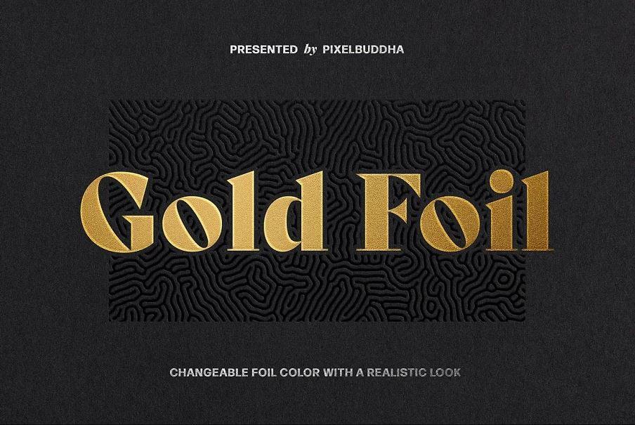 Metallic Foil Logo Mockup