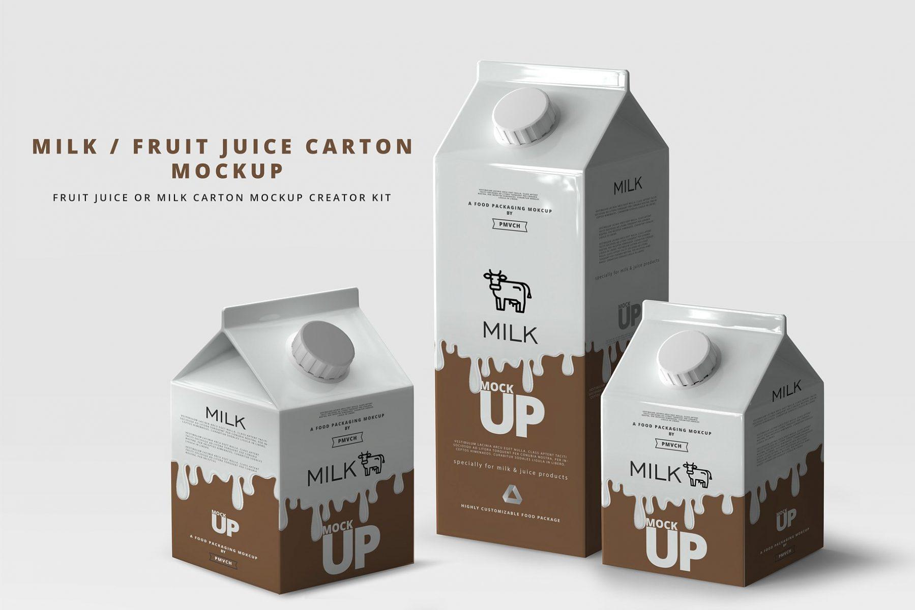 Milk Branding Mockup PSD