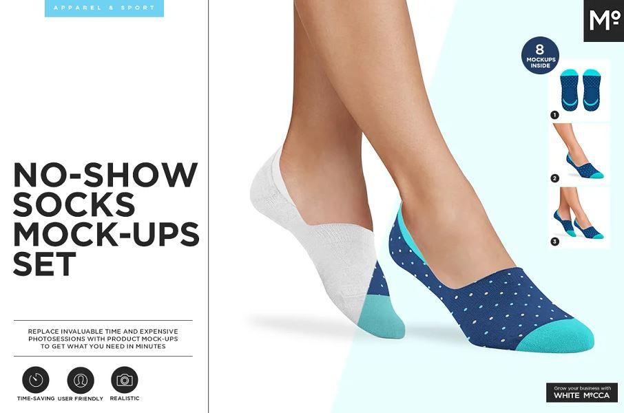 No Show Socks Mock-up