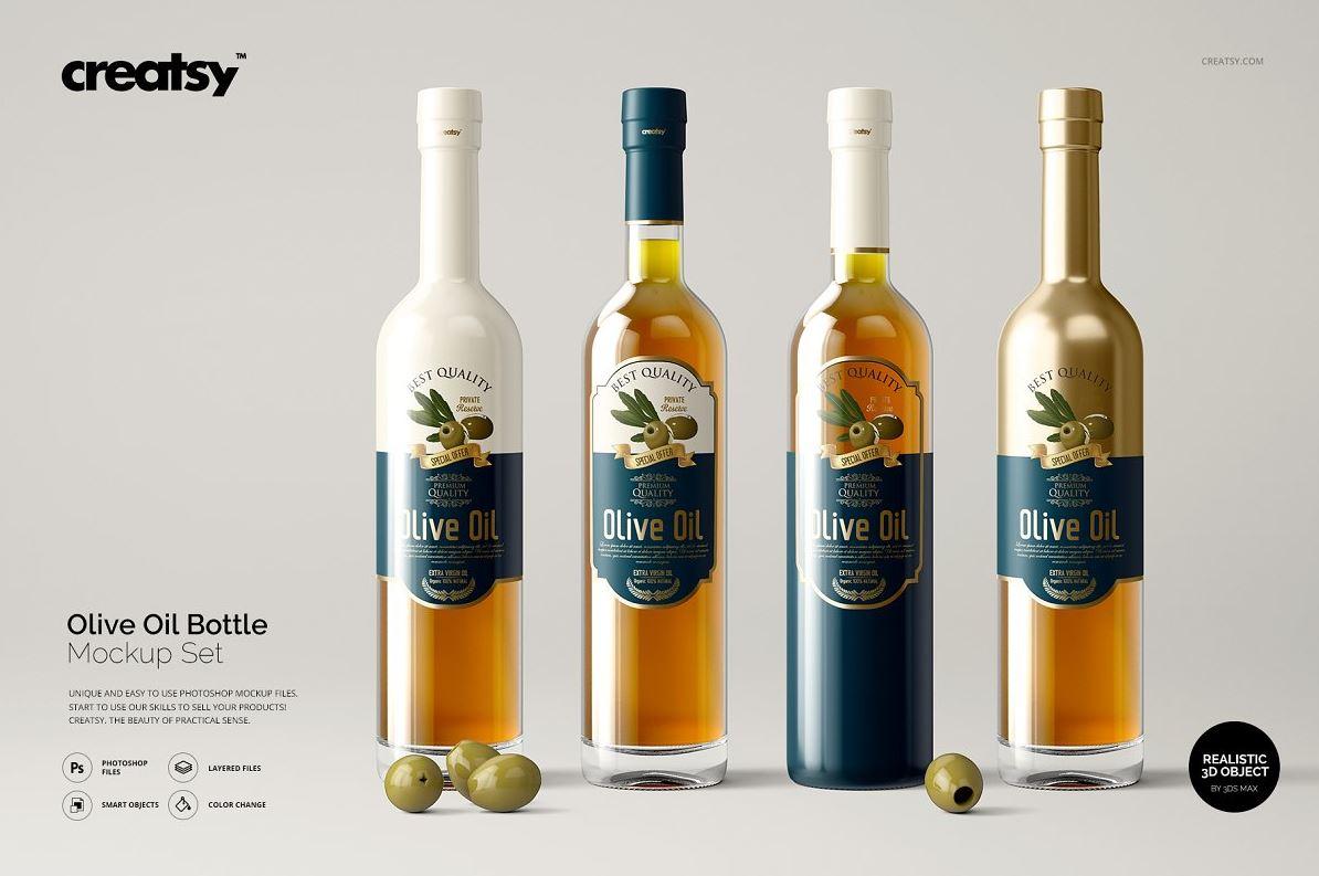 Olive-Oil-Bottle-Mockup-Set