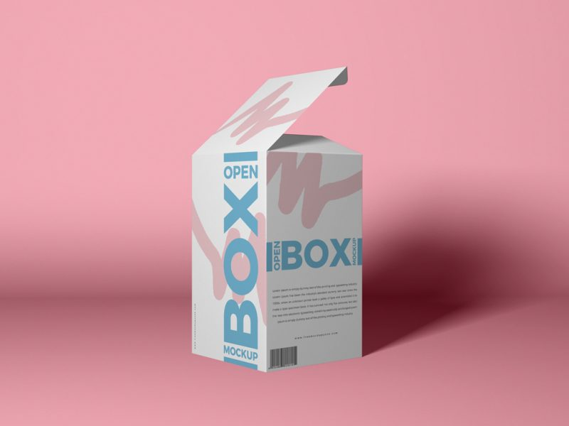 Open Box Packaging Mockup PSD